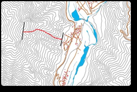 一次元渓流の設定